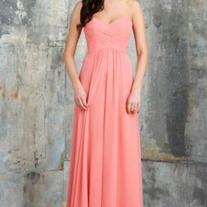 Bari Jay Coral Floor Length Formal Gown/Dress